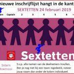 Sextetten aankondiging